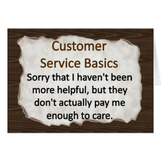 Customer Service Note Card