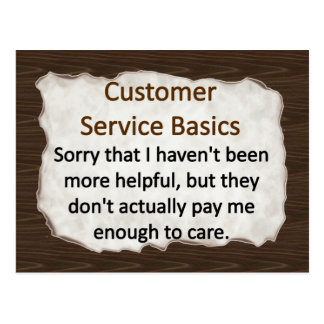 Customer Service Postcard