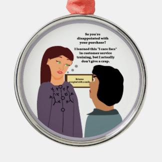 Customer Service Rep's Caring Face Christmas Ornament