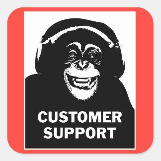 Customer support square sticker