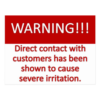 Customer Warning Post Card