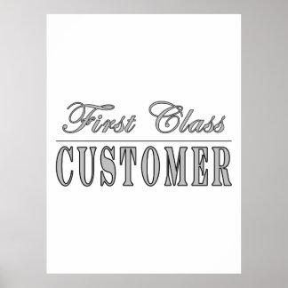 Customers First Class Customer Poster