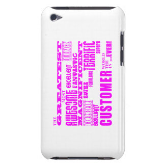Customers : Pink Greatest Customer Barely There iPod Cover