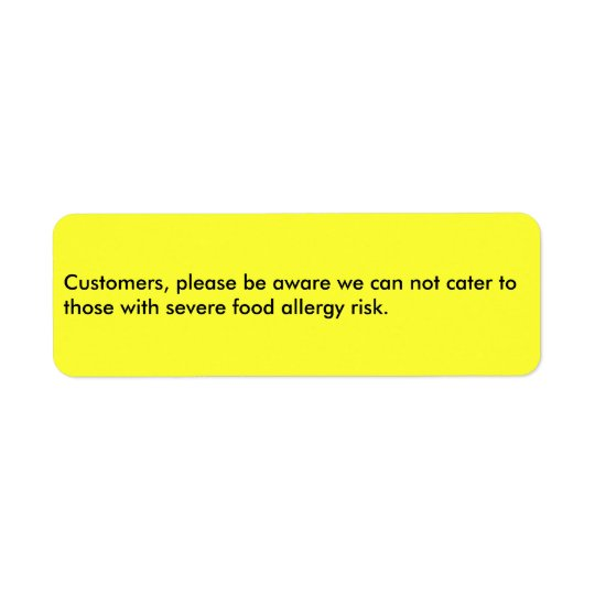 Customers, please be aware we can not cater to ...