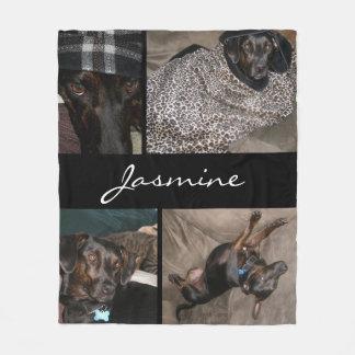 Customisable 4 Photos | Fleece Dog Blanket