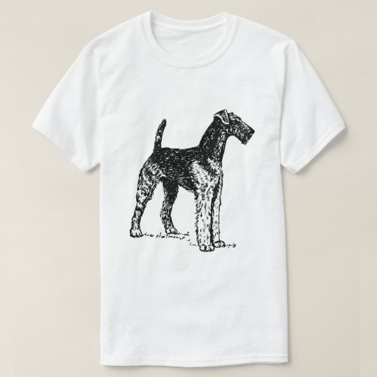 Customisable Airedale dog vintage drawing t-shirt