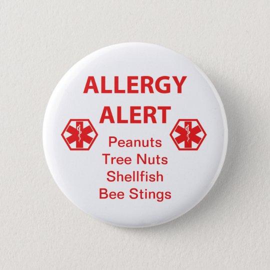 Customisable Allergy Alert Button