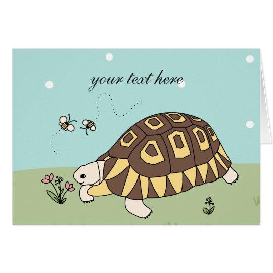 Customisable Angulate Tortoise Card