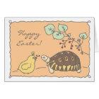 Customisable Angulate Tortoise Easter Card 4