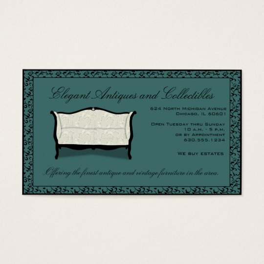 Customisable Antiques or Upholstery Business Card