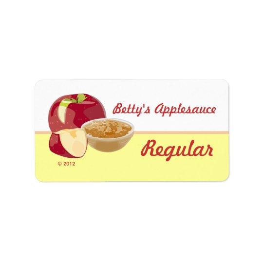 Customisable Applesauce Lables Label