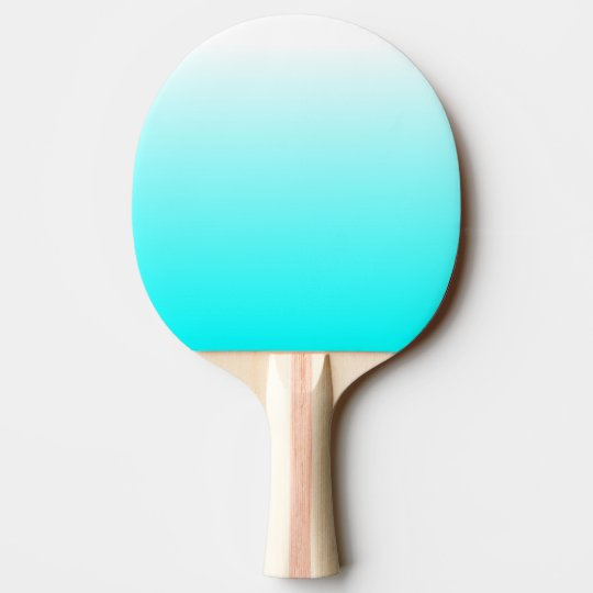 Customisable Aqua Ombre Ping Pong Paddle