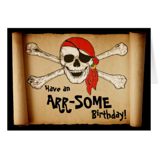 Customisable ARR-SOME Pirate Skull Greeting Cards