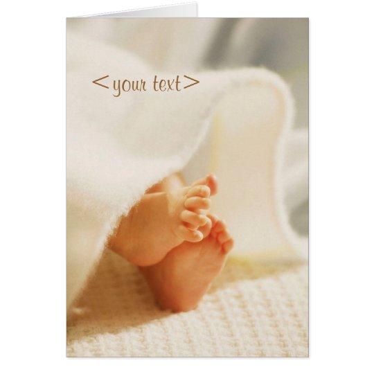 Customisable baby card
