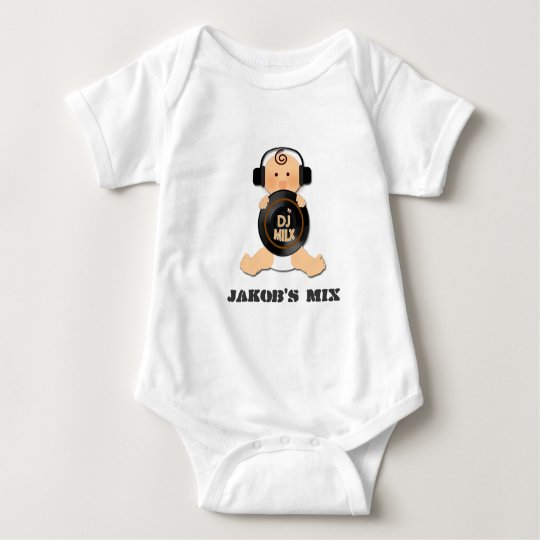 Customisable Baby DJ on Headphones & Vinyl Baby
