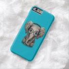 Customisable Baby Elephant Dj with Headphones Barely There iPhone 6 Case