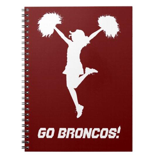 Customisable Background Cheerleader Cheerleading Notebooks