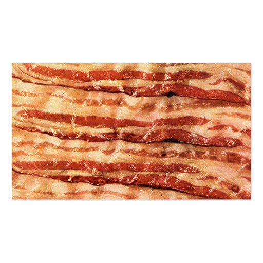 Customisable BACON business cards! Pack Of Standard Business Cards