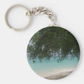 Customisable Barbados Beach Key Ring