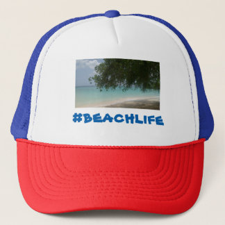 Customisable Barbados Beach Trucker Hat