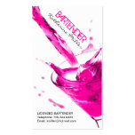 Customisable Bartender Business Card