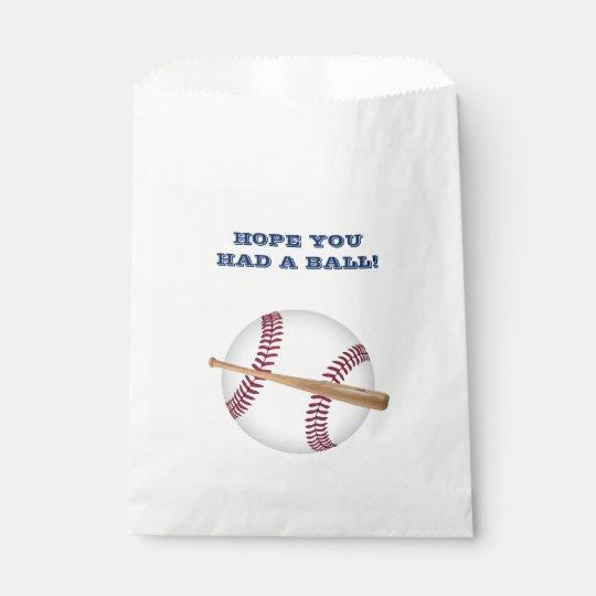Customisable Baseball favour bag