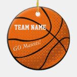 Customisable Basketball Team Round Ceramic Decoration