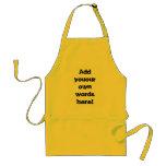 Customisable BBQ apron