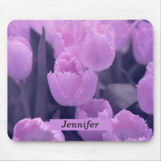 Customisable Beautiful Purple Tulip Back to School Mouse Mat