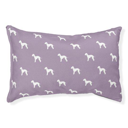 Customisable Bedlington Terrier Silhouette Dog Bed