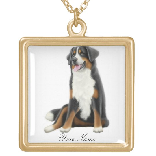 Customisable Bernese Mountain Dog Necklace