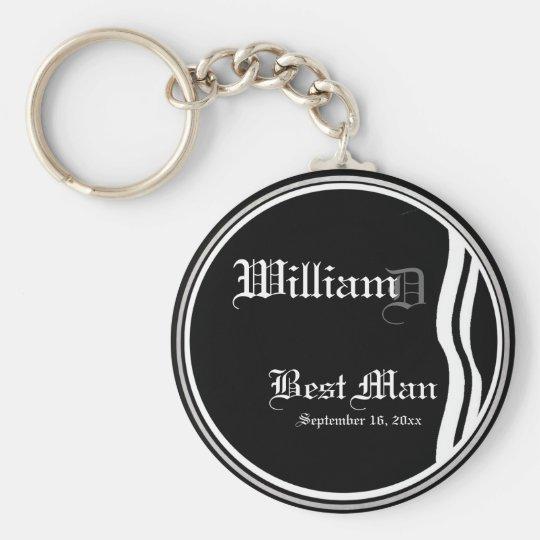 Customisable Best Mans Keepsake Keychain
