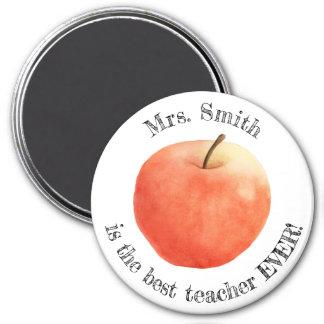 """Customisable """"best teacher ever"""" magnet"""