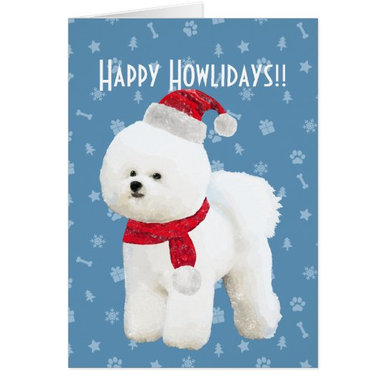 Customisable Bichon Frise Holiday Card