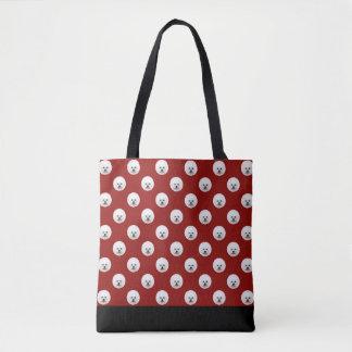 Customisable Bichon Frise Polka Dot Bag