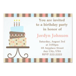 Customisable Birthday Cake Invitation