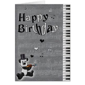 Customisable Birthday Panda Card