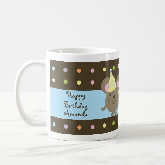 Customisable Birthday Part Mouse Mug