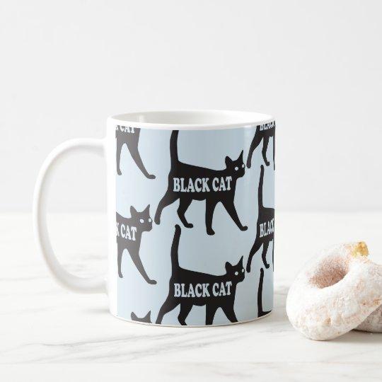 Customisable Black Cat Pattern Mug