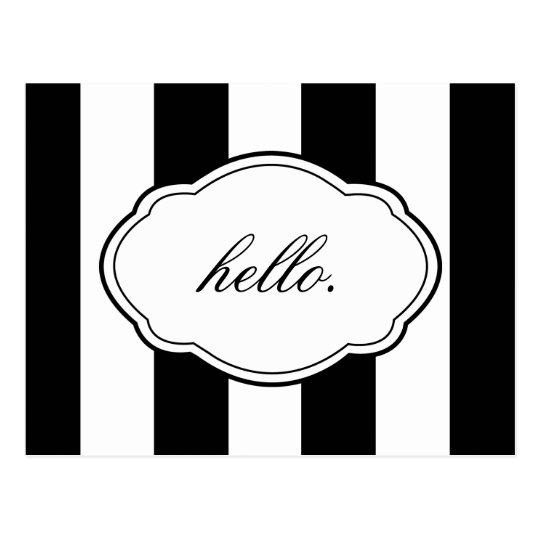 Customisable Black & White Label Post Card