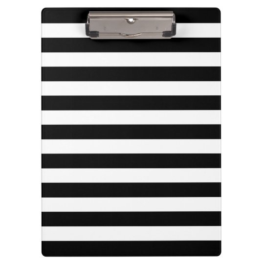 Customisable Black & White Striped Clipboard