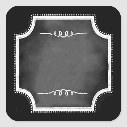 Customisable Blank Faux Chalkboard Square Stickers