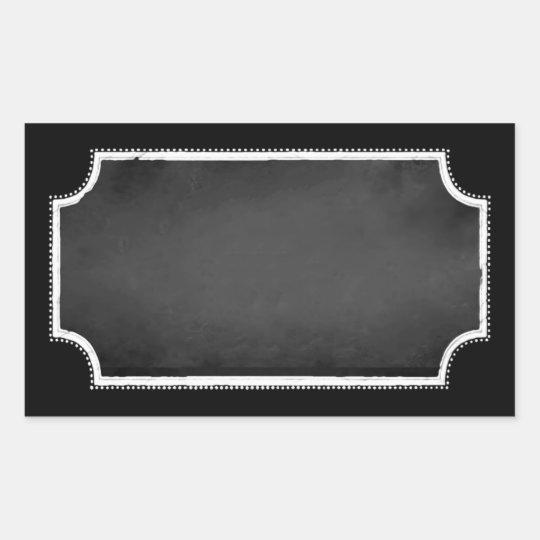 Customisable Blank Faux Chalkboard Sticker Labels