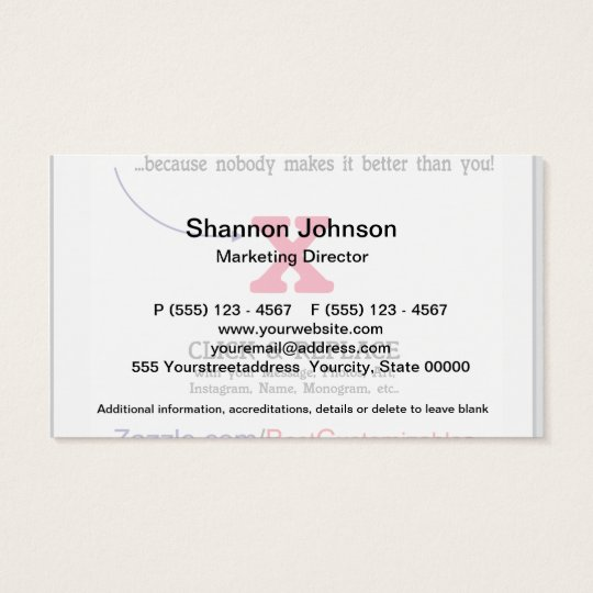 Customisable Blank Gift Template Business Card