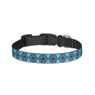 Customisable Blue Medallion Pet Collar