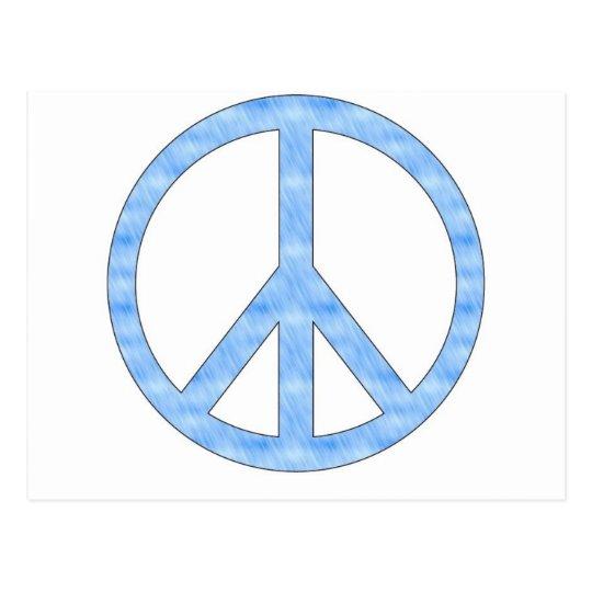 Customisable Blue Peace Sign Postcard
