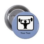 Customisable Bodybuilder / Weightlifter Logo 6 Cm Round Badge