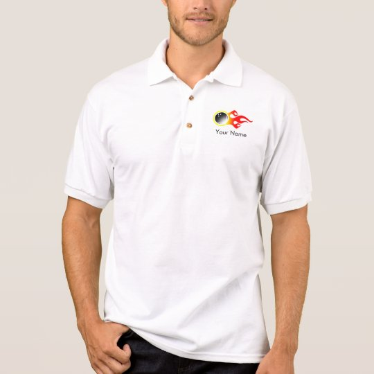 Customisable Bowling Jersey Polo Shirt