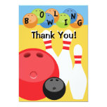 Customisable Bowling Thank You Custom Announcement