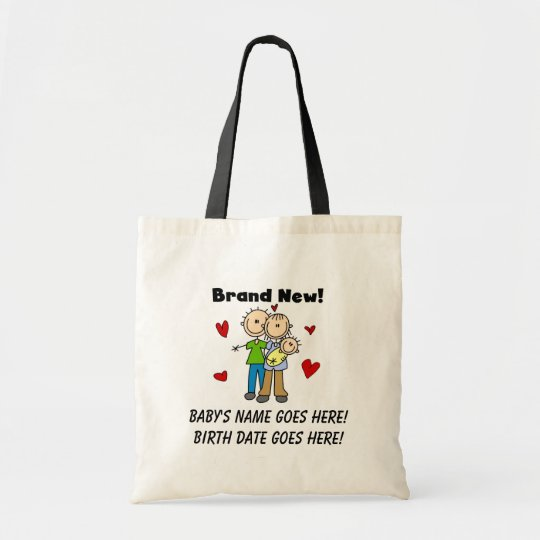 Customisable Brand New Baby Tote Bag